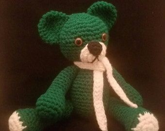 Dark Green Teddy Bear