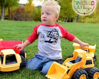 2nd Birthday Shirt Dump Truck - Toddler Boy/Girl Dump Truck Two Shirt - Second Birthday Tee Dump Truck - 2 Bday tshirt Toddler - Trendy Gift