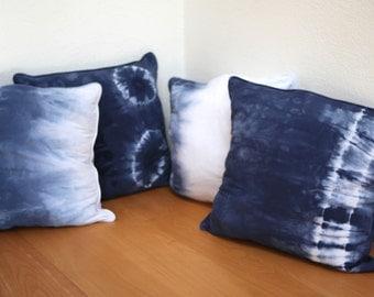 Large SHIBORI Pillow Covers - set of 4