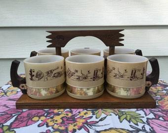Vintage Siesta Ware Mug Set