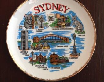 "Vintage 7.5"" Sydeny, Australia Souvenir Plate"