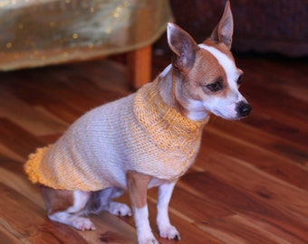 Pretty Girl Collection * Chihuahua sweater * Chihuahua clothing * Hand knitted chihuahua sweater * Chihuahua gift * small dog sweater