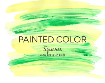 Painted Clipart - 22 Painted Color Square Clipart