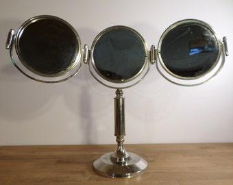 Great mirror Art Deco triptych on foot - Art deco mirror