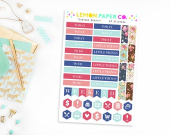 Headers and Icons // Vintage Beauty (Planner Stickers for Erin Condren Vertical and MAMBI The Happy Planner)