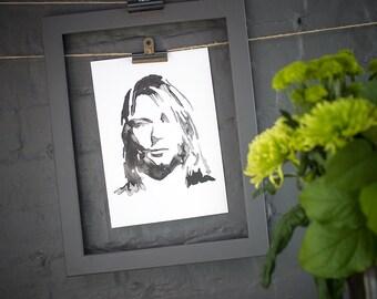 Kurt Cobain Inkling print