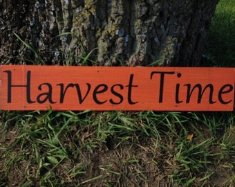 Harvest Time Repurposed Wood Sign Fall Decor