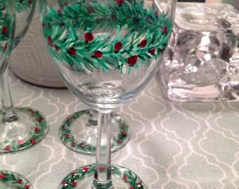 Christmas Wineglasses