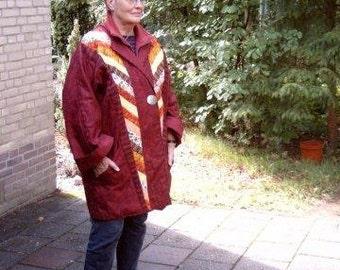 Kimono with patchwork jobs