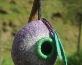 Made to Order Handmade 100% Wool Felted Bird Pod