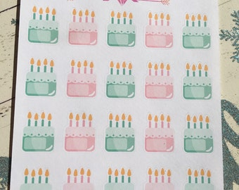 Birthday Labels - 2 Sheets
