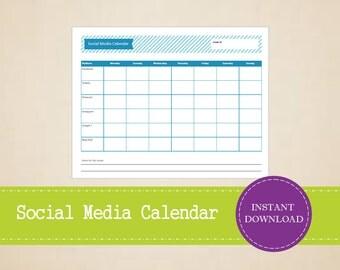 Social Media Planner - Weekly Social Media Calendar - Social Media Content - Printable and Editable Weekly Planner - INSTANT PDF DOWNLOAD