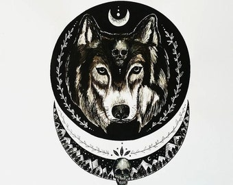 Wolf Moon Painting