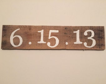 Anniversary Date Pallet Wood Sign