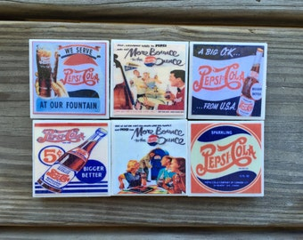 Vintage Pepsi Magnets (set of 6)
