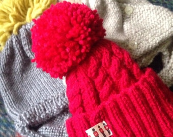 Hand Knit Bobble Hats