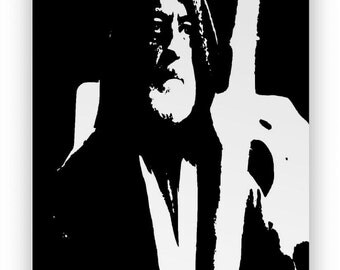 "Star Wars Obi Wan Kenobi "". Mirror hand engraved, sandblasted and coloured spray."
