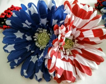 All American Girls Flower Headband