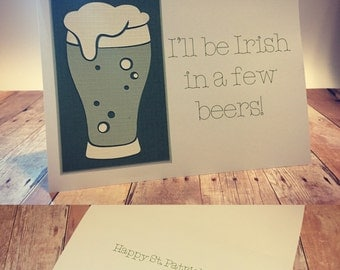 St. Patrick's Day Greeting Card; Happy St. Patrick's Day Greeting Card; St. Patrick's Day Card