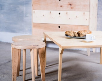 wooden stool EQUALIFY by polish design brand