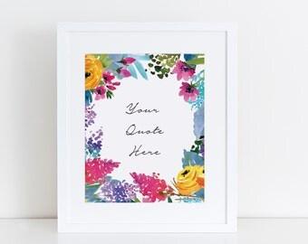 Print: Wild Flowers, 5x7 or 8x10 , Personalized