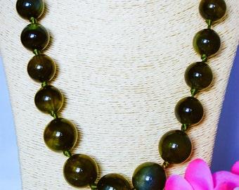 Necklace, vintage necklace, 1970s necklace, bead necklace, large bead necklace, eclectic necklace, boho chic