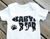 Baby Bear, New Baby Gift, New Mom Gift, New Dad Gift, Personalized Baby, Pregnancy Reveal, Baby Clothes, Gender Neutral, Baby Shower Gift.