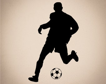Silhouette  Playing Soccer  Pond5
