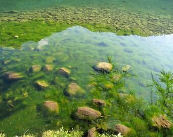 Lake reflections to Champeix (7/15)