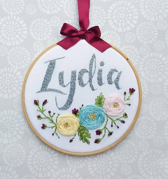 Items similar to nursery decor embroidery hoop art