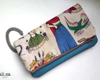 Frida Clutch Blue