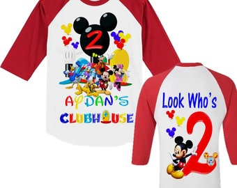 Mickey Mouse Clubhouse Birthday Shirt - Mickey Mouse Boy's Shirt - Raglan Available