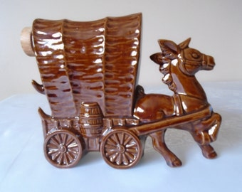 treacle glazed horse and cart decanter