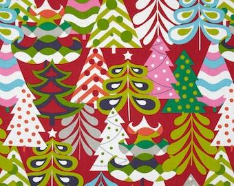 Treelicious - Tis The Season Red - by Maude Asbury - 100% Premium Cotton Fabric - Blend Fabrics