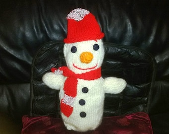 Digital download how to tutorial pdf file knitted snow man pattern