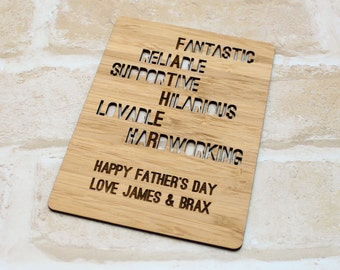 Fathers Day Crossword Card