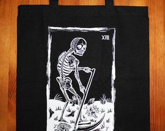 Death Tarot Card Tote Bag