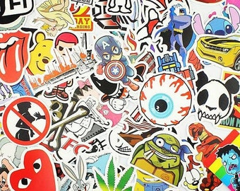100 VinylLaptop Stickers bomb pack BMX skateboard JDM car stickers Waterproof