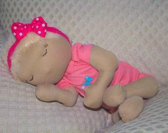 Handmade doll - baby girl doll - handmade toys