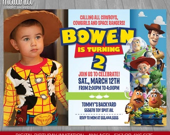 Toy Story Invitation - Toy Story Invite - Disney Pixar Toy Story Birthday Invitation - Toy Story Birthday Party with photo