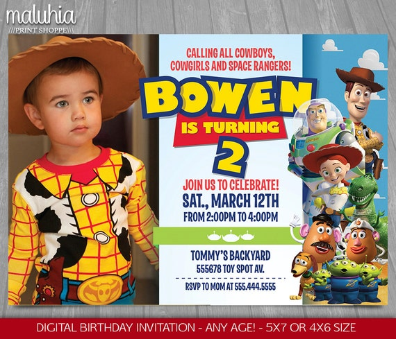 Printiable Toy Story Birthday Invitation Card 37