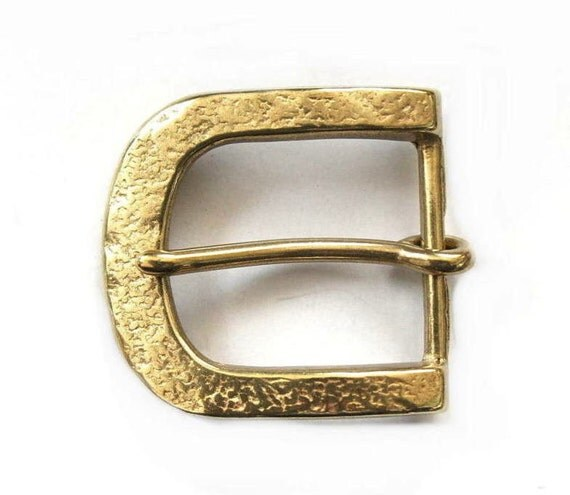 brass embossed buckle solid custom leather belt 35mm
