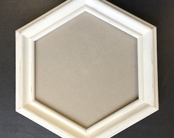 Set of 2 picture frames, shabby chic, wood, 6-square, picture frame