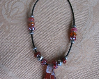european glass necklace