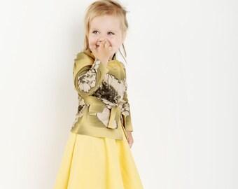Jacket and skirt 92-98 linen handmade