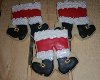 Santa Pants Christmas Cookies