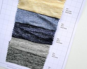 Yarn dyed linen knit fabric, sweater knit linen, yarn dyed linen fabric, organic fabric shop  ec6014