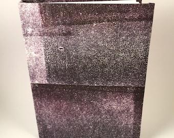 A6 Dark Purple Textured Print Sketchbook