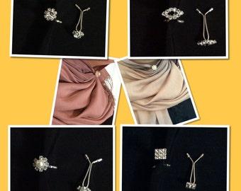 Brooch, hijab pin, hijab brooch,pearl