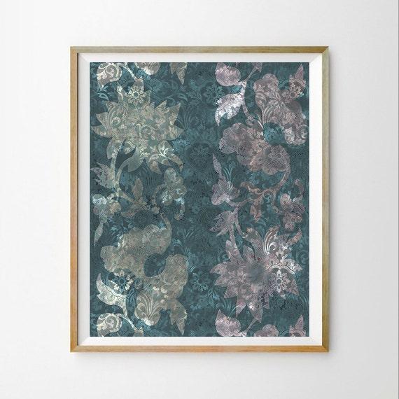 Teal Wall Art Print Turquoise Wall Decor Turquoise Printable